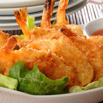 Fried Key West Pink Shrimp with Caribbean Fry Sauce